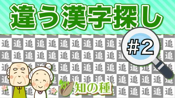 注意力と判断力を鍛える違う漢字を探し問題vol2 認知症予防に最適な間違い探し脳トレ