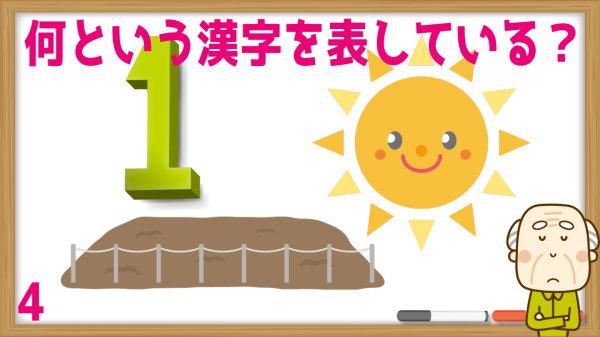 【漢字謎解き】イラストが示す漢字を答えてください