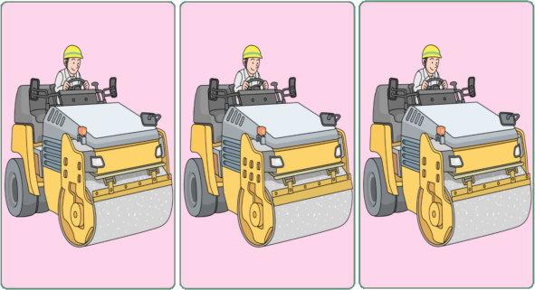 【間違い探し】3枚の画像から間違いを2か所探してください