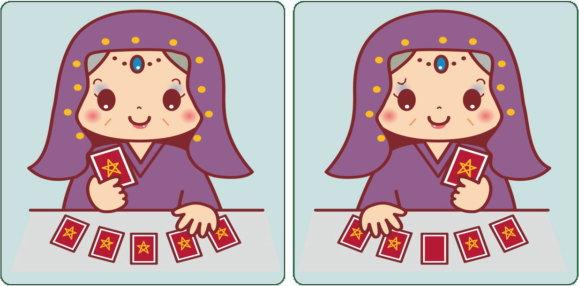 【対称間違い探し】2枚の画像が左右対称になっている間違い探し