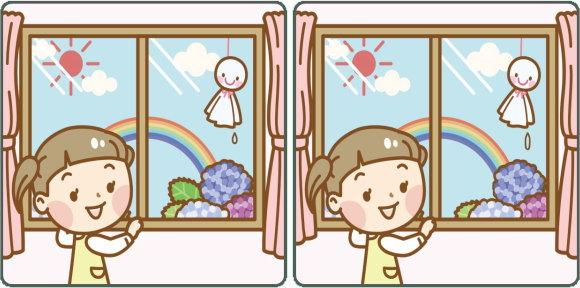 【間違い探し】左右の画像で間違いを探す脳トレ問題