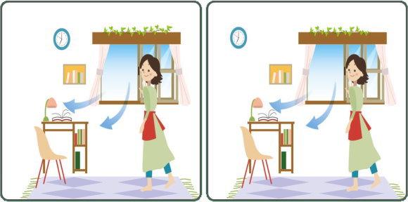 [まちがい探し] 3つの異なるところを探す脳トレ全4問#75 空間認識能力を鍛えて認知症予防をしながら家にいよう