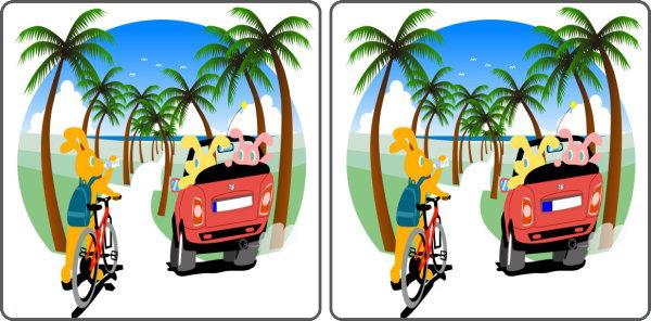 【間違い探し】2枚のイラストで間違いを探して脳を鍛える楽しい問題