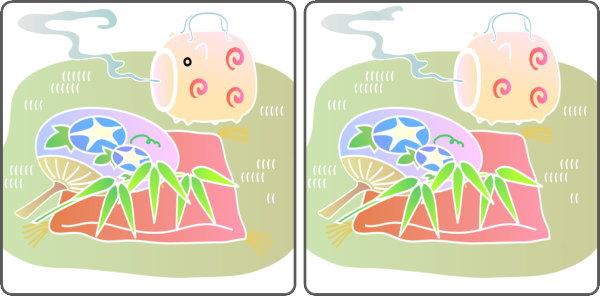 【間違い探し】3か所の異なるところを探す楽しい脳トレ