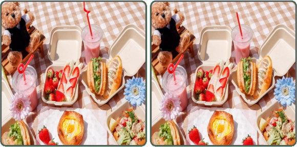 【間違い探し】写真で違いを判断する脳トレ問題