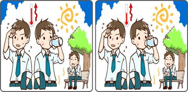 【間違い探し】3か所の違いを当てる楽しい脳トレ!