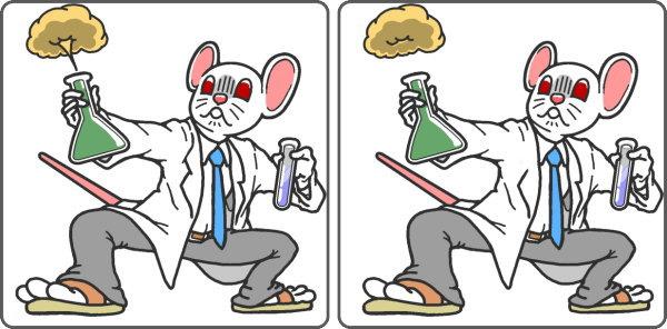 【間違い探し】イラストから3か所の違う部分を探す脳トレ