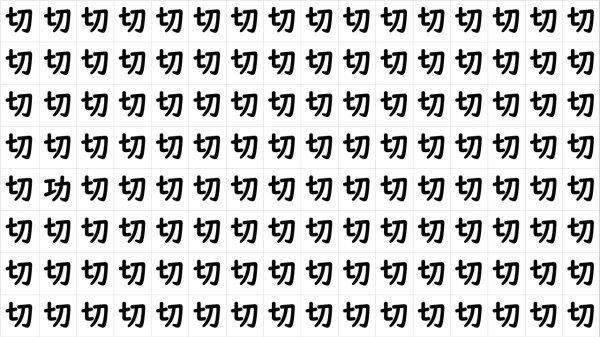【間違い漢字探し】違う漢字を探してください!