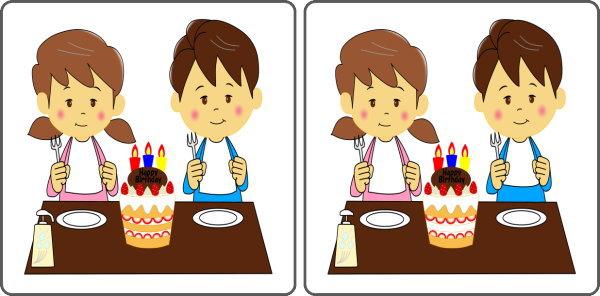 【間違い探し】3つの間違いを探して脳をリフレッシュさせる楽しい問題!