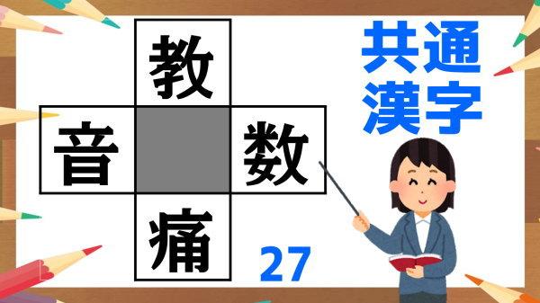 【穴埋め漢字】正しい熟語を4つ同時に完成する脳トレ