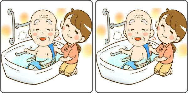【間違い探し】3つの違いを判断する高齢者向け問題!
