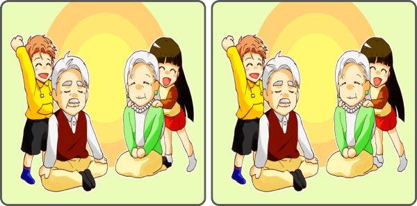【間違い探し】3か所の違いを見分ける高齢者向け脳トレ!