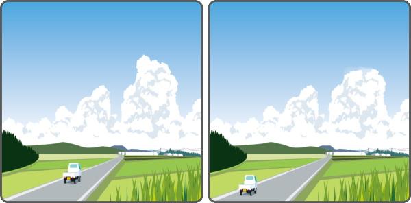 【間違い探し】左右の画像から違うところを3つ探す脳トレ