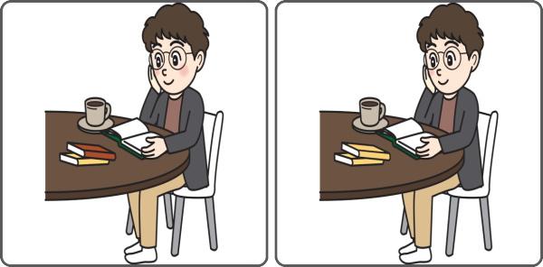 【間違い探し】左右のイラストの違いを探す脳トレ