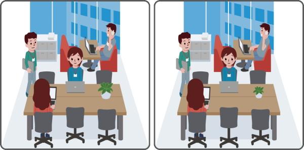 【間違い探し】左右の画像から異なるところを3つ探す認知症予防クイズ