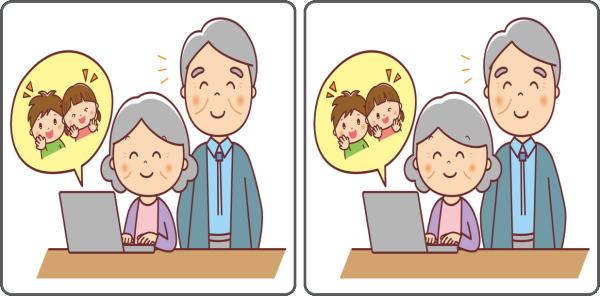【間違い探し】認知症予防に最適な高齢者向け脳トレ