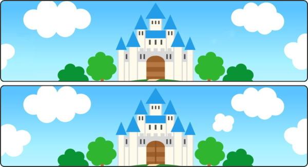 【間違い探し】上下の画像で3つの違いを見抜く脳トレ