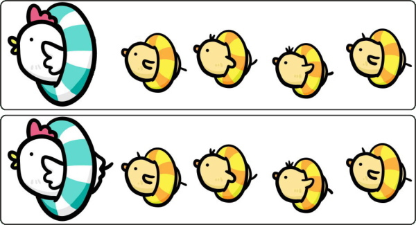 【間違い探し】上下のイラストを比較する脳トレ