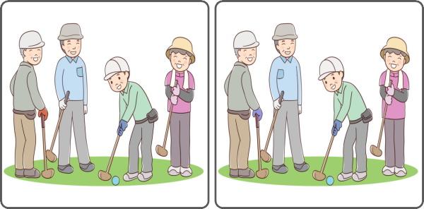 【間違い探し】老化予防に最適な3カ所の違いを探す脳トレ