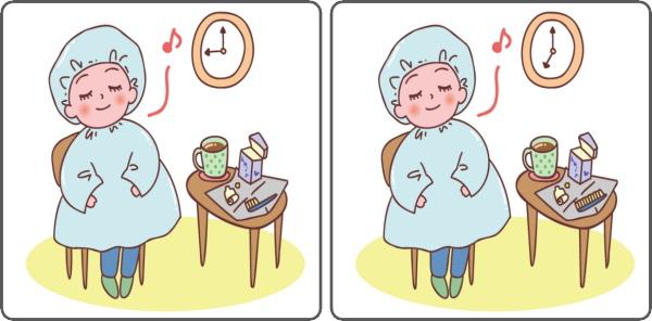 【間違い探し】集中力を鍛えて脳の老化予防に最適な脳トレ
