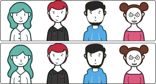 【間違い探し】上下のイラストから3か所の違いを見抜く脳トレ