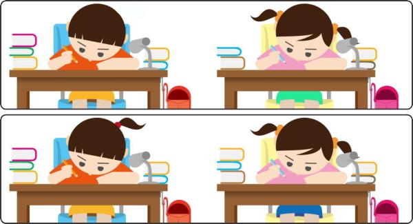 【間違い探し】脳を鍛える上下イラストの違いを探す脳トレ